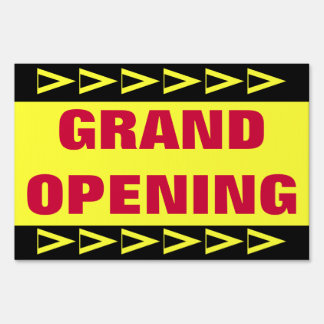 Grand Opening Lawn Sign