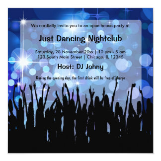Grand openings invitations zazzle grand opening nightclub card stopboris Choice Image