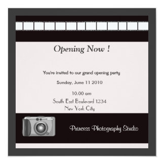 Grand Opening Party Invitation Photography