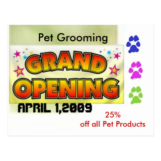 Grand Opening Post Cards