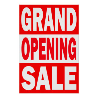 GRAND OPENING RETAIL SALE POSTER