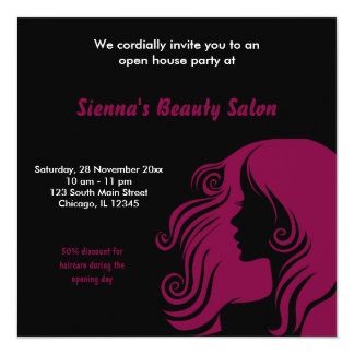 Grand Opening Salon (Maroon) Card