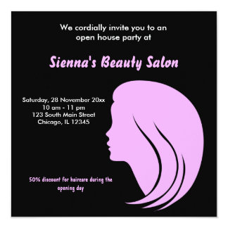 Grand Opening Salon (Plum) Card
