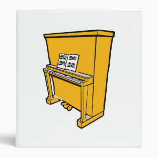 grand orange upright piano with music.png 3 ring binder