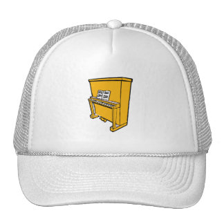 grand orange upright piano with music.png trucker hat