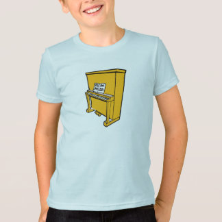 grand orange upright piano with music.png T-Shirt