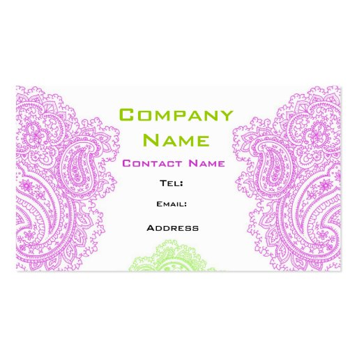 Grand Paisley Design Business Card