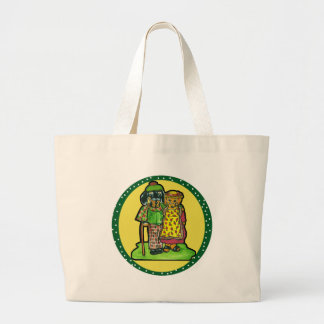 Grand Parent Doxies Large Tote Bag