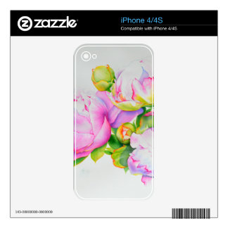 Grand Peony Skin For iPhone 4