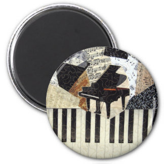 Grand Piano 2 Inch Round Magnet