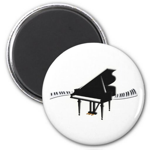 Grand piano and Keyboard 2 Inch Round Magnet