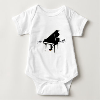 Grand piano and Keyboard Baby Bodysuit