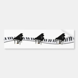 Grand piano and Keyboard Bumper Sticker