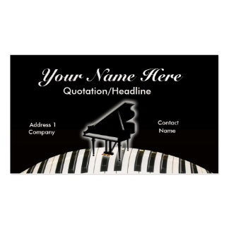 Grand Piano and Keyboard Business Cards