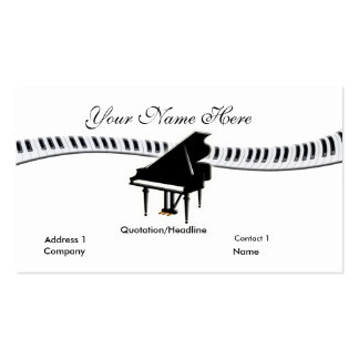 Grand Piano and Keyboard Business Card