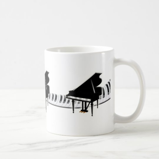 Grand piano and Keyboard Coffee Mug