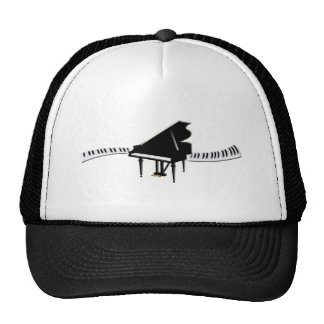 Grand piano and Keyboard Trucker Hat