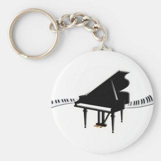 Grand piano and Keyboard Keychain