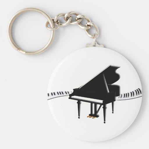 Grand piano and Keyboard Key Chain