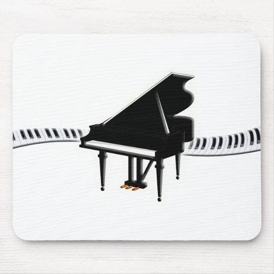 Grand piano and Keyboard Mouse Pad