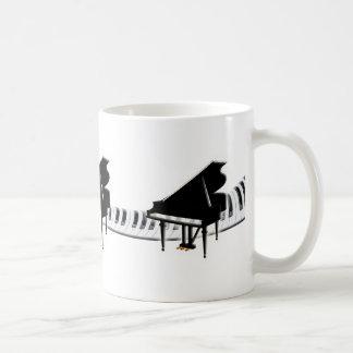 Grand piano and Keyboard Coffee Mugs