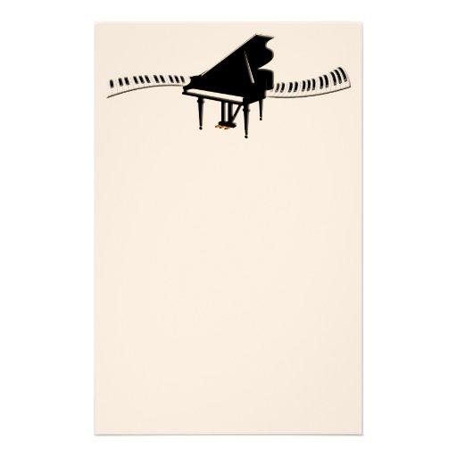 Grand Piano and Keyboard Stationery