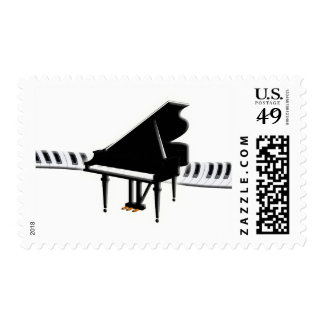 Grand Piano and Keys Stamp