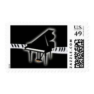 Grand Piano and Keys Postage