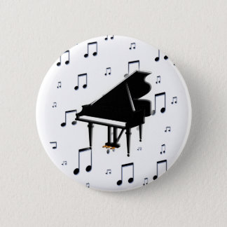 Grand Piano and Music Notes Button