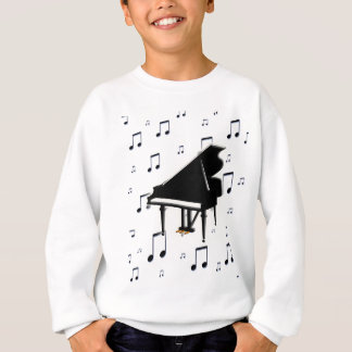 Grand Piano and Music Notes Sweatshirt