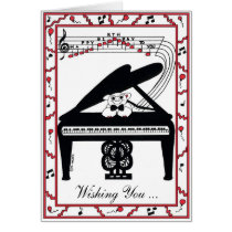 Grand Piano Birthday Card