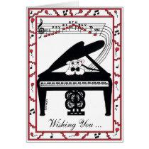 Grand Piano Birthday Card