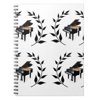 grand piano black notebook