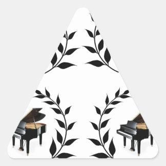 grand piano black triangle sticker