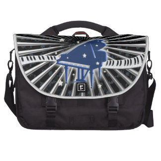 Grand Piano Blue Laptop Bag