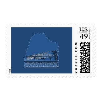 Grand Piano: Blueprint Painting: Custom Stamps