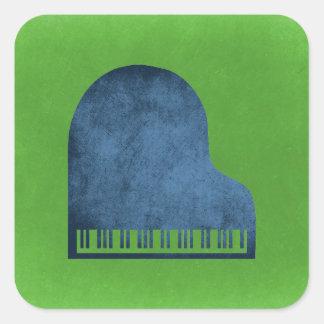 Grand Piano Blues Square Sticker