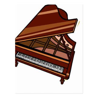 Grand Piano Brown Bird s Eye View Postcards