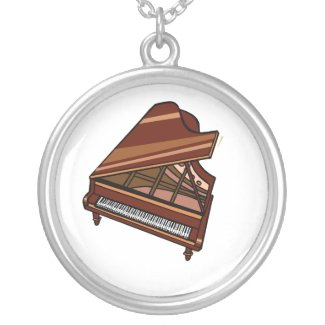 Grand Piano Brown Bird's Eye View necklace