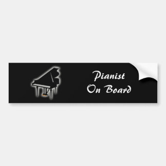 Grand Piano Bumper Sticker