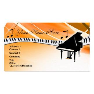 Grand Piano Business Card