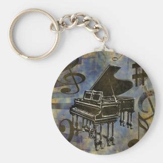 Grand Piano Collage Keychain