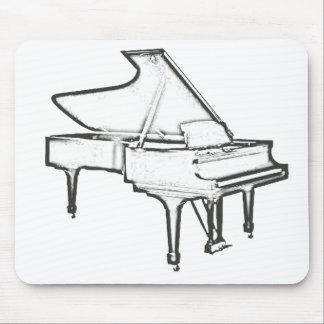 "Grand Piano ""Drawing"" Mousepads"