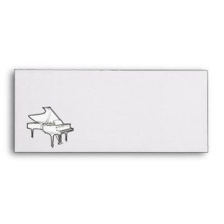 "Grand Piano ""Drawing"" Personalized Envelope"