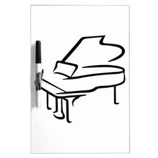 Grand Piano Dry Erase Board