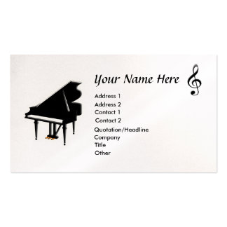 Grand Piano G-Clef Business Card