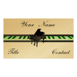 Grand Piano Gold Golden Business Cards