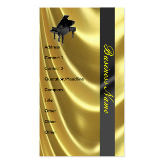 Grand Piano Golden Elegant Business Card