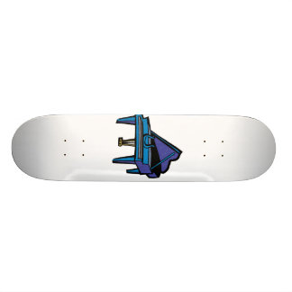 Grand Piano Graphic, Blue Image Skateboard