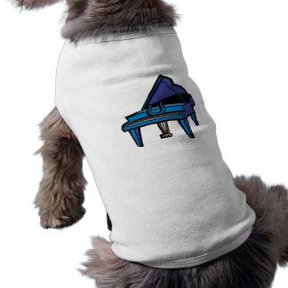 Grand Piano Graphic, Blue Image T-Shirt